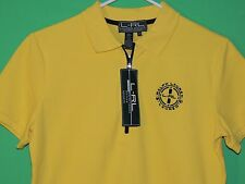 NWT LRL Lauren Active Ralph Lauren Women's Size S Small Yellow Short Slv Shirt