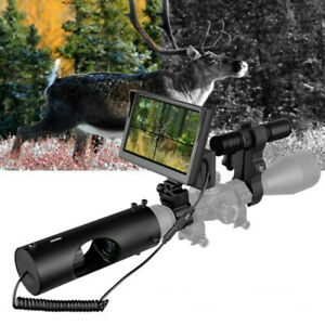 Infrared Night Vision Rifle Scope Hunting Sight LED IR Camera w Display Cover