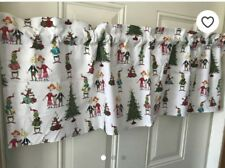 white dr. suesse grinch curtain valance 14 x 42 nwot window christmas decor
