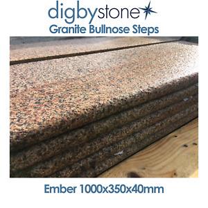 Digby Stone - Granite Bullnose Steps - Ember 1000x350x40mm