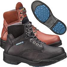 "Wolverine Work Boots DuraShocks Slip Resistant Soft Toe / Steel Toe 6"" Leather"