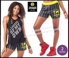 Zumba Shorts + RACERBACK TANK TOP - 2 Pieces *EliteZear Convention Wear S M L XL