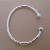 925 Sterling Silver British Hallmarked Torque Bangle Bracelet 22 cm & 5 mm Thick