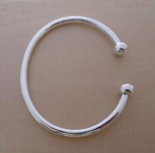 b869b781717a 925 Sterling Silver British Hallmarked Torque Bangle Bracelet 22 cm   5 mm  Thick