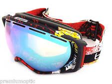 BOLLE premium GRAVITY Snowboard Goggles Black & Red Zenith/ Citrus Gold 21296