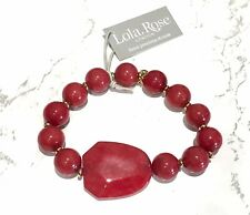 Lola Rose Lyric Pillar Box Red Quartzite With Gold Bracelet Brand New,Gift Pouch