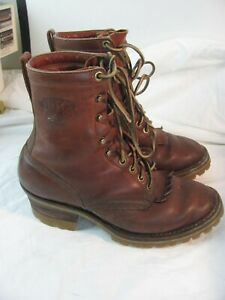 White's Boots ~ 8E ~ Glove Leather Lined ~ Aggressive Honey Soles ~ EXCELLENT