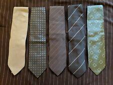 Lot of 5 Vintage Armani Ties