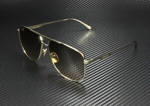 GUCCI GG0336S 001 Aviator Gold Brown 60 mm Men's Sunglasses