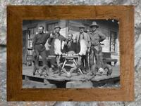 "Vintage Hunting ... Trophy Antlers, Old Cabin  Antique Hunting 5""x7"" Photo Print"