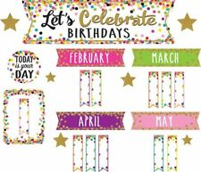 TCR 5884 Confetti Class Birthday Mini Bulletin Board Teacher Supplies