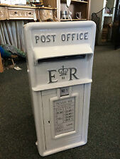 Royal Mail post box white Wedding silver letter British cast iron post box white