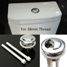 38mm Thread Dual Flush Round Toilet Water Tank Push Button Cistern Lid Chrome