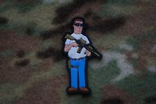 Hank Hill King Of The Hill 3D PVC Morale Patch Moeguns God Dang It Bobby Propane