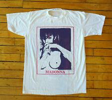 Hot! Vintage 90s Madonna Pop Rock Band Tour Concert Reprint White T-Shirts S-2Xl