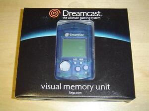VMU MEMORY CARD SEGA DREAMCAST ORIGINAL BLUE *BRAND NEW*