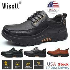 Mens Genuine Leather Dress Casual Comfort Lace-up Loafers Oxford Modern Shoes