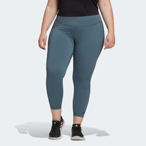 Adidas Plus Size Women's Believe This 2.0 Solid 7/8 Tights, Legend Blue