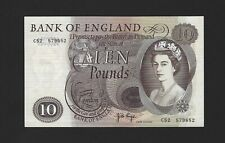 GREAT BRITAIN 10 Pounds Bank of ENGLAND 1971, B326 Page Sig, UNC, Scarce Type