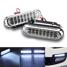 2x Super Bright 16 LED 12V 6W Car Daytime Running Light DRL Fog Day Driving LAMP
