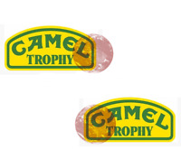 STICKER AUTOCOLLANT 2 x CAMEL TROPHY Jeep 4x4  Land Rover decals stickers