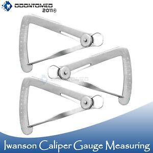 3x Iwanson Caliper Metal Measurement Gauge Dental Laboratory Technician Tool