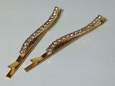 Haarklammer Haarspange Herz Perlen gold Haarschmuck A524