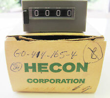 Danaher Hecon G0 414 165-4, 4 Digit, Pushbutton Reset, 24VDC, Totalizing Counter