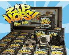 FULL CASE ZIP-HOPS ZIPPER PULLS TURNTABLE MIC BOOMBOX MIXER HIP HOP MINI FIGURES