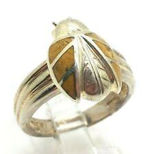Ladybug Enamel Design Sterling Silver 925 Ring 7g Sz.10 BOB952