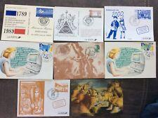 lots 8 carte postale journee nationale du timbre etc...