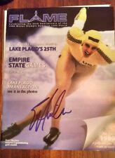 Eric Heiden rare 2005 hand signed 25th anniversary Flame magazine-Olympic legend