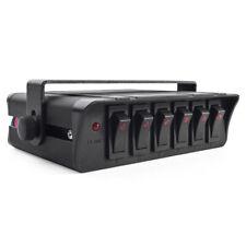 Universal 12V 6-Gang LED Rocker Switch Panel Car Truck Boat Control Box 40A Fuse