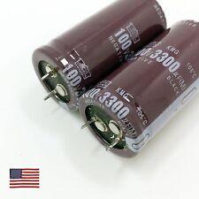US 2 Pcs Electrolytic Capacitors 3300uF 100V 25*50mm 85°C For HIFI
