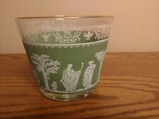 """JEANETTE GLASS """"HELLENIC"""" GREEN WEDGEWOOD  VINTAGE LARGE BOWL NO FLAWS IN EUC"""