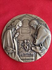 NATIVITY / CHRISTMAS / PORTUGAL BRONZE MEDAL 90MM.