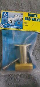 Dante Gas Valve Fireplace Log Gas Valve Dnt.S.Pb.Hd Polished Brass Blue Flame