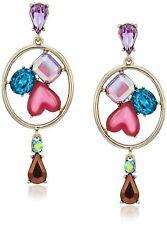 Sweet Shop Mixed Multi-Colored Stone Chandelier Drop Earrings MSRP $38