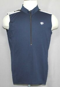 Pearl Izumi Select Quest Blue Sleeveless Full Zip Cycling Jersey Men's Size Lrg