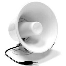 White ABS Weather Proof PA Speaker Horn CB Radio, Outdoor, Marine, Game Call 15w