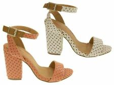 Standard (B) Block Textured Casual Heels for Women