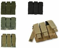 NEW Military Style Tactical Triple Pistol Magazine Mag MOLLE Pouch - SWAT BLACK