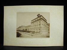 fotografia albuminé Palazzio del ministero dell finanze Italia 1880 photographie