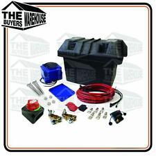 COMPLETE DUAL BATTERY SYSTEM KIT 12V 4WD BOATING CARAVAN BATTERY BOX