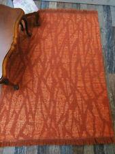 Wunderschöner rostfarbenerTEPPICH,28x20cm,Puppenstube1:10,1:12,1:6
