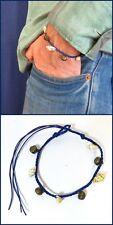 Surfarmband Armband bracelet mit Glöckchen Muscheln Blau verstellbar Beach Neu