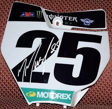 Marvin Musquin #25 Signed Front Number Plate KTM -  Monster Energy SX - JSA COA