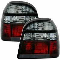 CRYSTAL SMOKED REAR TAIL LIGHTS LAMPS FOR VW GOLF MK3 MK 3 III 1991-1998 MODEL