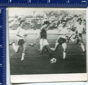 Vintage Olympics Football Competition USSR Photo Athletic Sport Uniform Stadium
