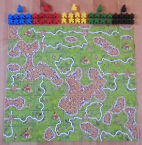 Carcassonne – Base Game including Abbot (No Box) | New | English Rules